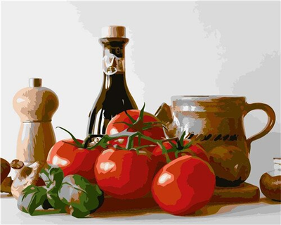 Tomatoes and Balsamic - Paint By Numbers Kit