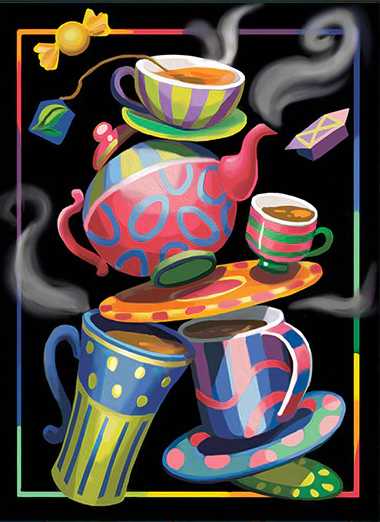 Whimsy Teacups - Paint By Numbers Kit