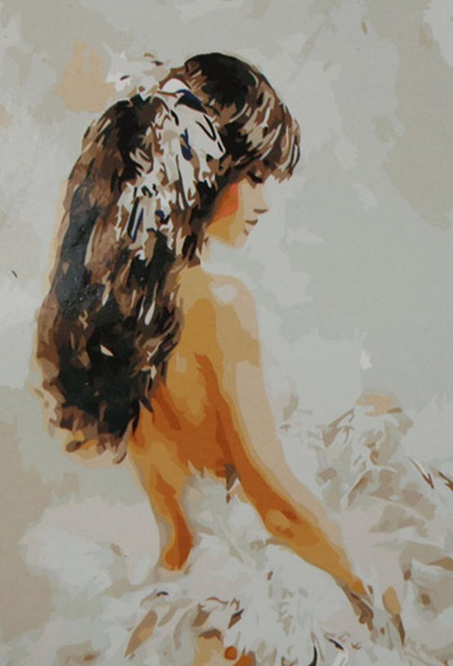 Woman In White - Paint By Numbers Kit