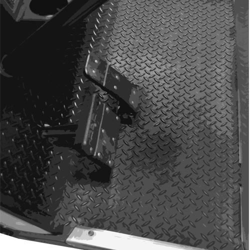 Madjax Club Car DS Replacement Diamond Plated Floormat