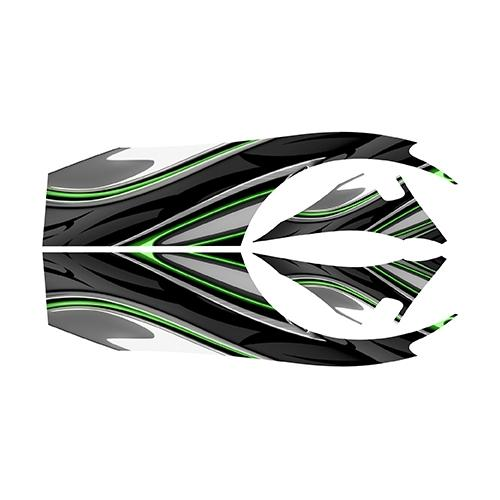 Madjax E-Z-GO RXV Green Carbon Custom Body Graphic Set