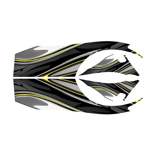 Madjax Club Car DS Yellow Carbon Custom Body Graphic Set