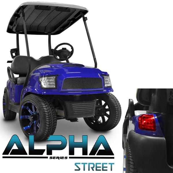 Club Car Precedent ALPHA Street Body Kit in Blue (Fits 2004-Up)