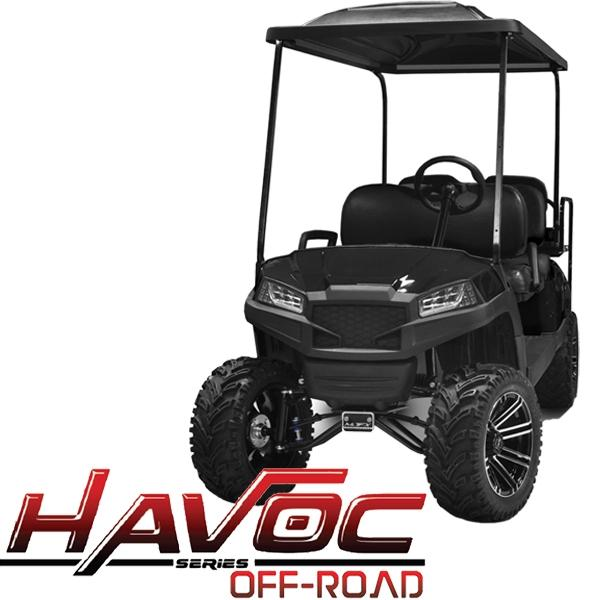 Yamaha G29/Drive HAVOC Off-Road Front Cowl Kit in Black (Fits 2007-2016)