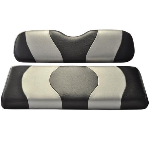 Madjax Wave Black/Silver Two-Tone Genesis 150 Rear Seat Covers