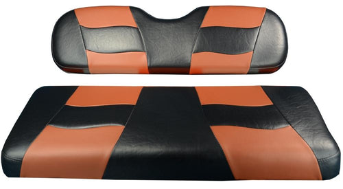 BLACK/MOROCCAN RIPTIDE TWO-TONE REAR SEAT CUSHION SET G150