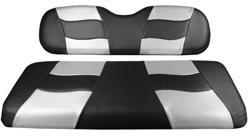 Madjax Riptide Black Carbon/Silver Carbon Two-Tone Genesis 150 Rear Seat Covers