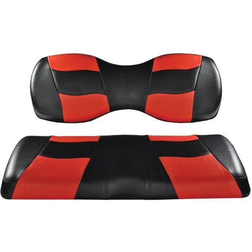 Madjax Deluxe Riptide Black/Red Two-Tone Genesis 250/300 Seat Cushions