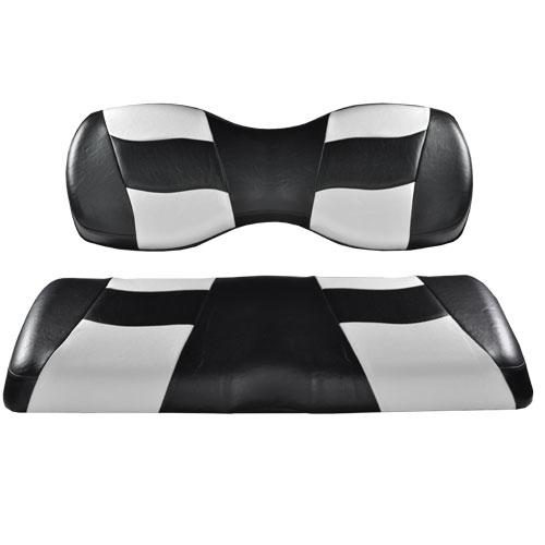 Madjax Deluxe Riptide Black/White Two-Tone Genesis 250/300 Seat Cushions