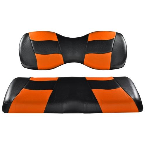 Madjax Riptide Black/Orange Two-Tone Genesis 250/300 Rear Seat Covers