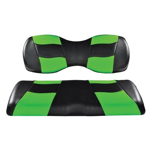 Madjax Riptide Black/Lime Cooler Green Two-Tone Genesis 250/300 Rear Seat Covers
