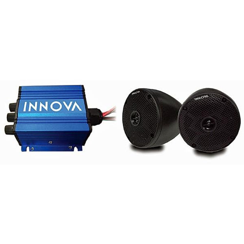 INNOVA 2 Cone and 2-Channel Mini-Amp with Bluetooth (Universal Fit)
