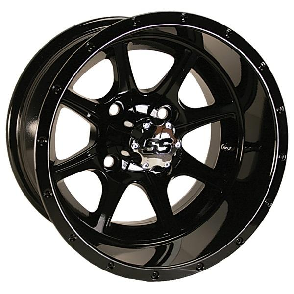 12X7 Tremor Gloss Black Wheel W/SS Cap (3:4 Offset)