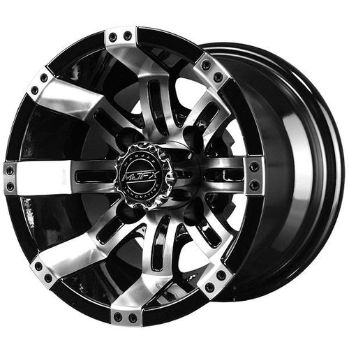 10x7 MJFX Machined/Black Octane Wheel