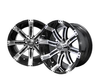 14x7 MJFX Machined / Black Octane Wheel