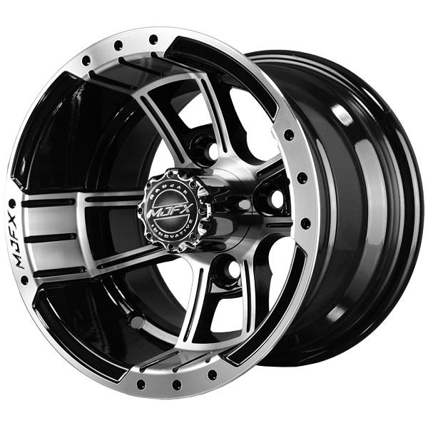 10x7 MJFX Machined/Black Apex Wheel
