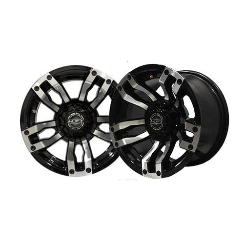 14x7 MJFX Machined/Black Velocity Wheel
