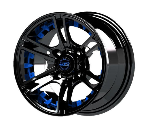 MJFX Blue Wheel Inserts for 12x7 Mirage Wheel