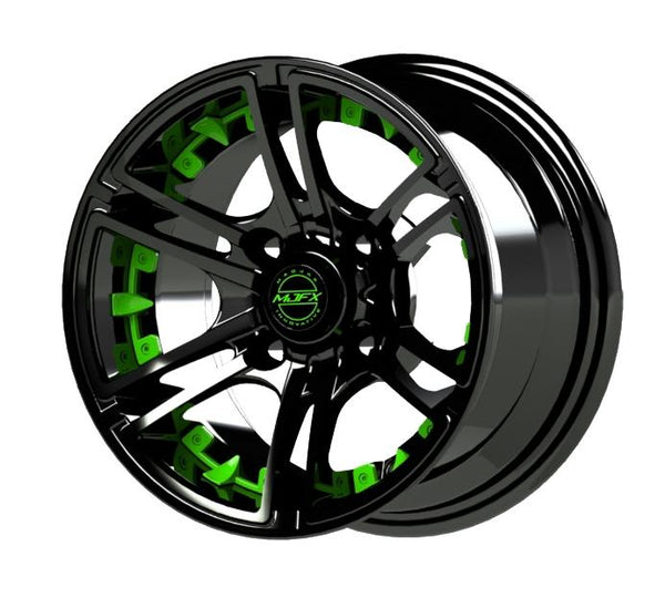 MJFX Green Wheel Inserts for 14x7 Mirage Wheel