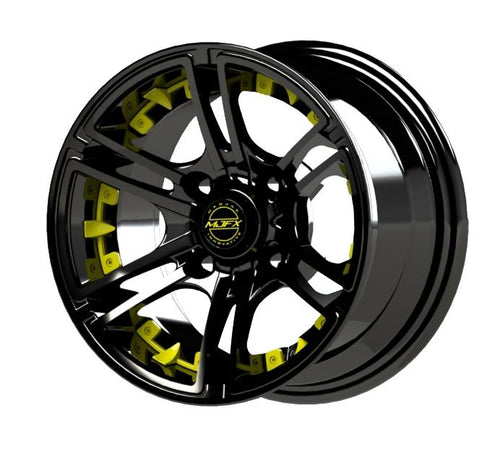 Yellow Inserts for Mirage 14x7 Wheel