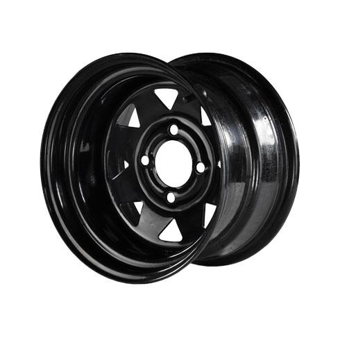 12x8 MJFX Black Steel Wheel