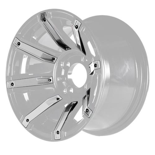 MJFX Silver Wheel Inserts for 12x7 Avenger Wheel