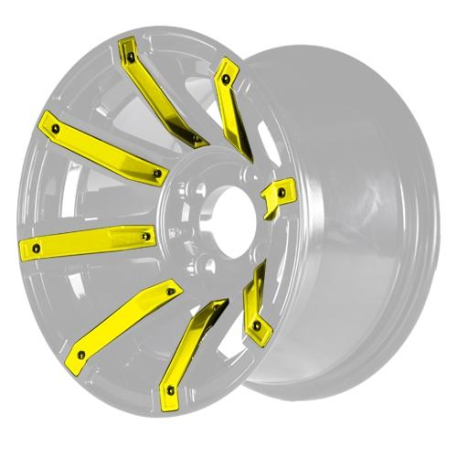 MJFX Yellow Wheel Inserts for 12x7 Avenger Wheel