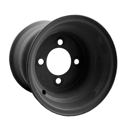 8x7 Black Steel Wheel, Centered