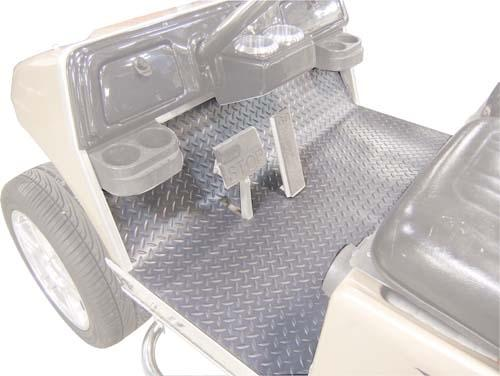 Floor Mat Cover EZGO 2001.5 &up Diamond Plate Grey