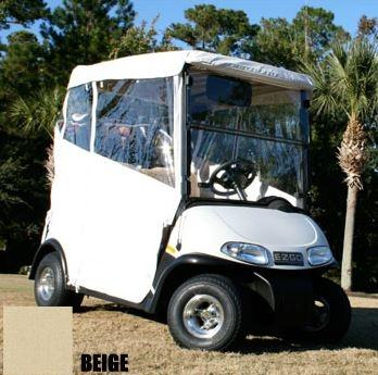 Club Car DS 2-Passenger Red Dot 3-Sided Beige Vinyl Enclosure (Years 2000-Up)