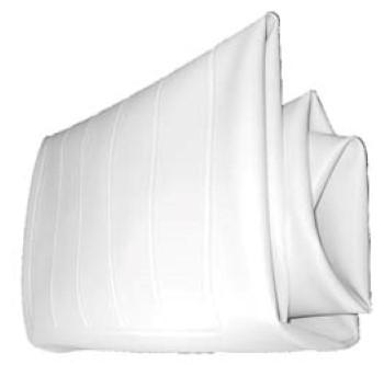 COVER, SEAT BACK, FAIRPLAY ZX WHITE