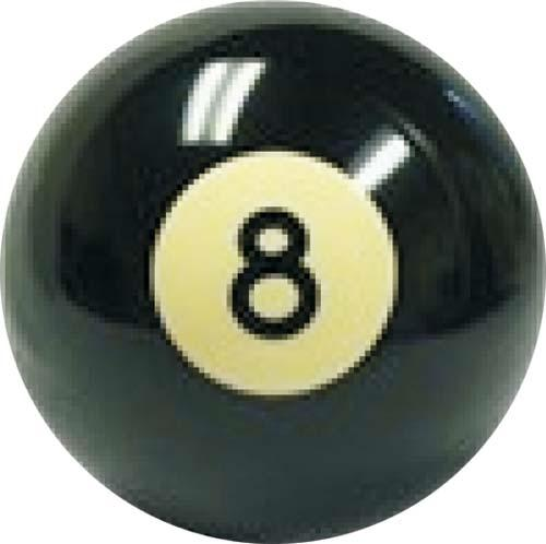 "SHIFTER KNOB-(8 BALL) 3/8-24. 1/2"" thread"