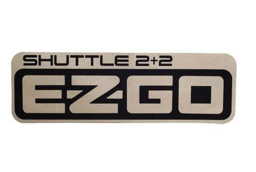 Ezgo 2 + 2 shuttle decal