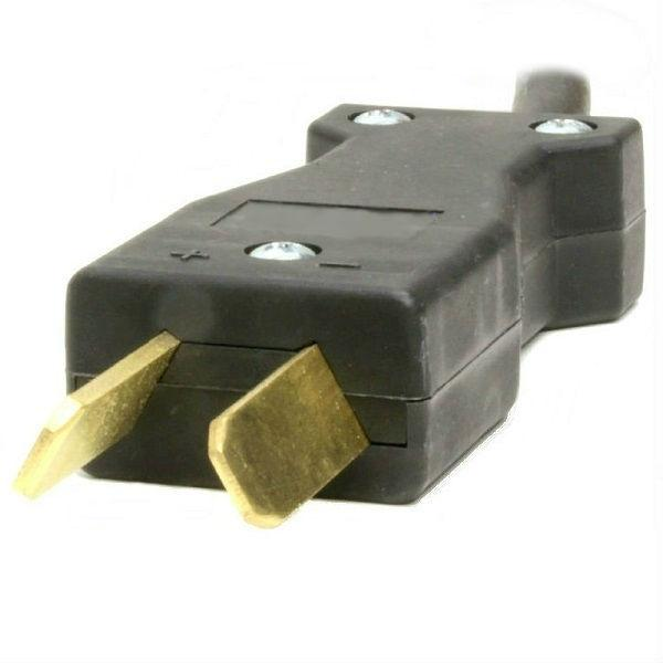2-Blade Gray Molded Crowsfoot Plug With 8.5 Ft. DC Cord