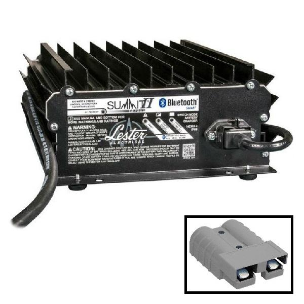 Lester Summit Series II Battery Charger - 1050W 24/36/48V With Gray SB50 Plug With 8.5 Ft. DC Cord