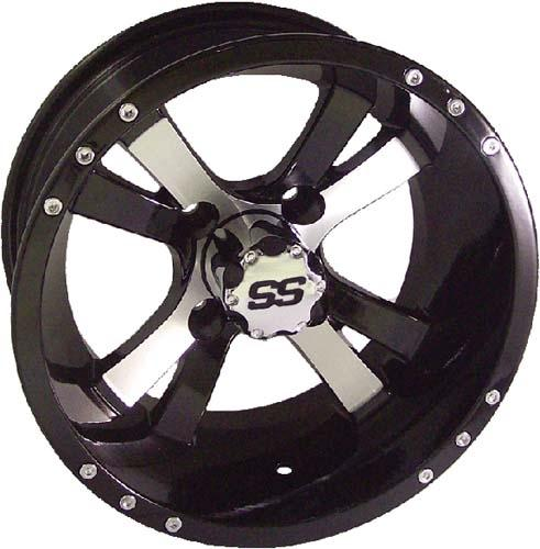 40404 -14x7 Twister Machined w/Black Wheel (3+4 offset)