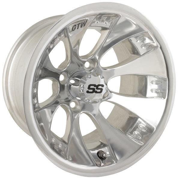 12X7 Claw Polished Wheel W/SS Cap (2:5 Offset)