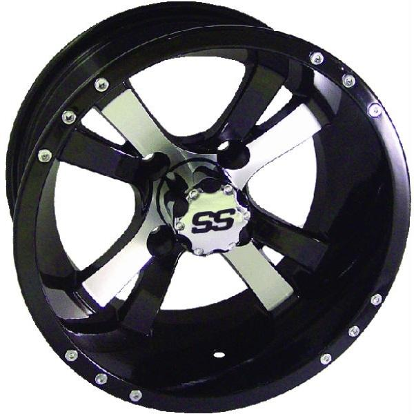 10x6 Twister Machined/Black Wheel W/SS Cap (3:4 Offset)