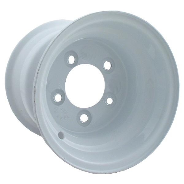 10x6 White Steel Wheel, Centered (5 Hole)