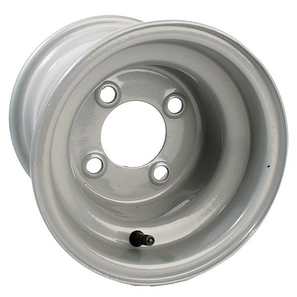 8x7 Club Car Grey Steel Wheel, Centered