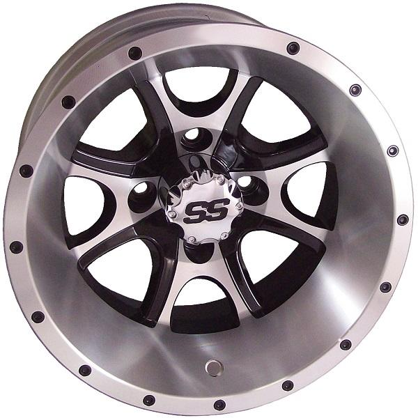 12X7 Tremor Machined/Black Wheel W/SS Cap (3:4 Offset)