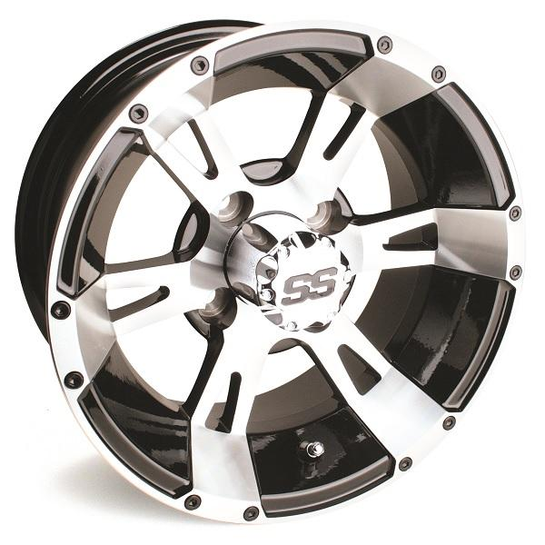 12X6 Machined/Black Yellow Jacket Wheel W/SS Cap