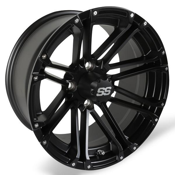14X7 Matte Black Voyager Wheel