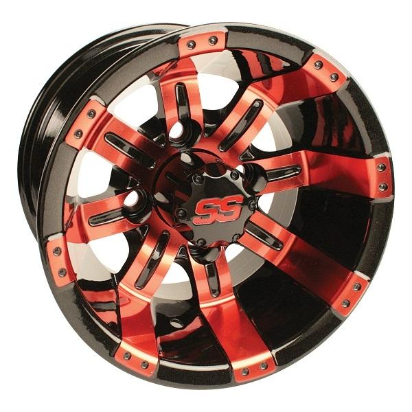 10X7 Tempest Painted Black/Red W/SS Cap 3+4 Offset