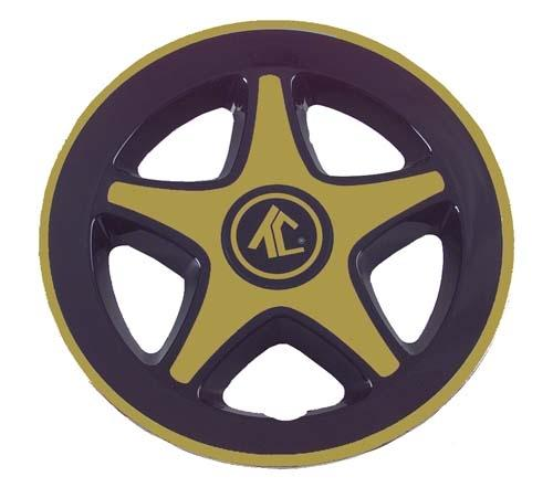 "WHEEL COVER, 8"" TC MAG BLACK/GOLD (EA)"
