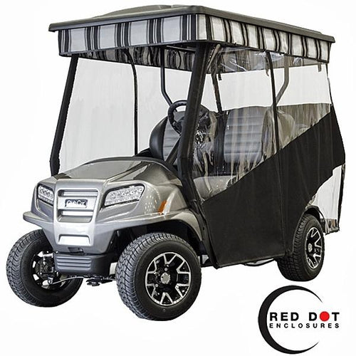 Red Dot Track Style Custom Color Vinyl Enclosure for Club Car ONWARD w/ CGI Top (Years 2017-Up)
