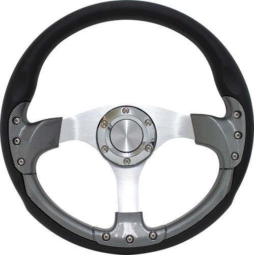 "PURSUIT 14"" CARBON FIBER STEERING WHEEL W/KIT; EZGO"