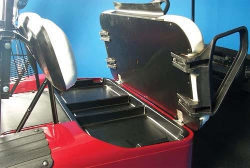 UNDERSEAT TRAY BLACK EZGO 94 UP (BIG)