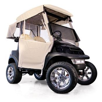 Club Car Precedent 2-Passenger Red Dot 3-Sided Beige Vinyl Enclosure (Years 2004-Up)