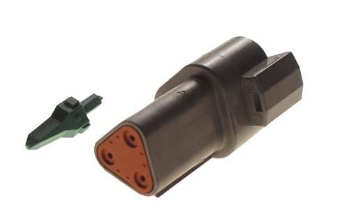3-PIN RECEPTACLE & WEDGE LOCK CC